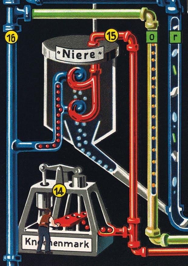 Der Mensch als Industriepalast Detailaufnahme