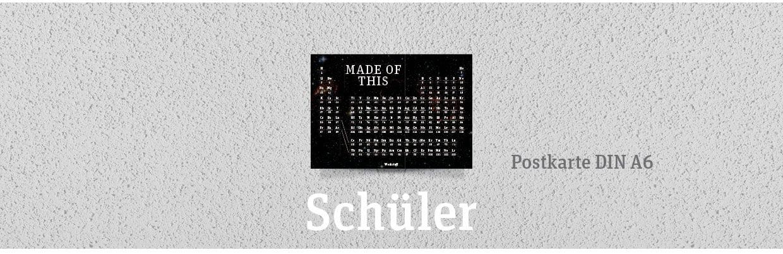 PSE Periodensystem Werkstoff Postkarte