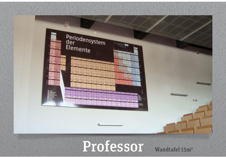PSE Periodensystem Werkstoff Wandtafel Hörsaal